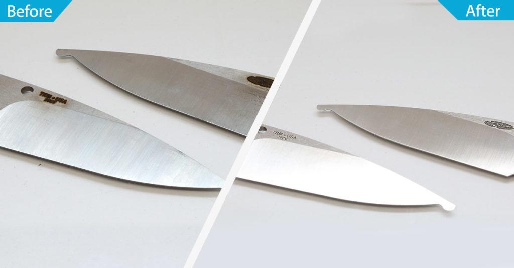 Knife Deburring and Polishing